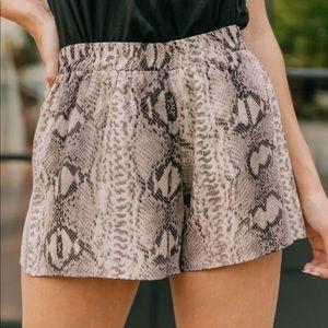 KARLIE snakeprint shorts
